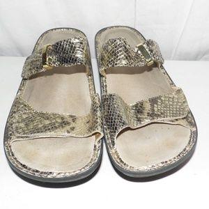 Alegria Kar 236 Gold Snakeskin Sandals 41 10-11